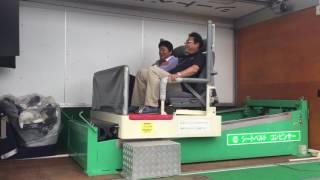 土浦自動車学校 シートベルト効果体験