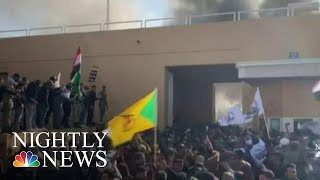 Protesters Storm U.S. Embassy In Baghdad After Airstrikes | NBC Nightly News