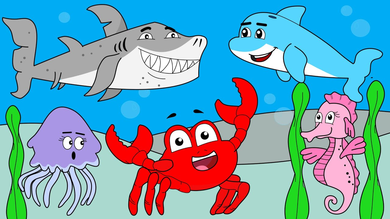 Sea Creatures Song | Learn Ocean Animals For Children