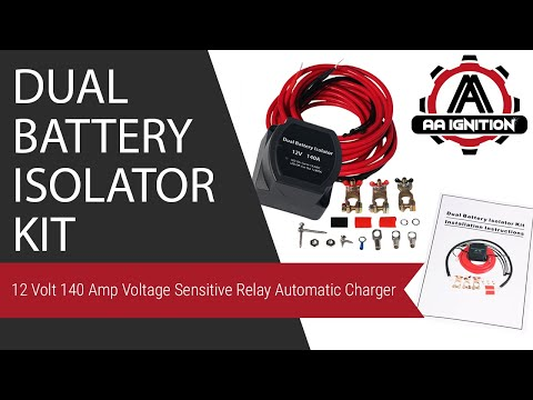 MaySpare Dual Battery Isolator Kit 12V 140Amp Voltage Sensitive Relay VSR Double Battery Automatic Charger /& Wiring Cable Kit