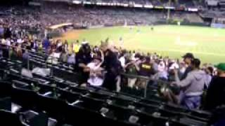 Baseball Fan Gets Tasered - Oakland As v. Texas Rangers
