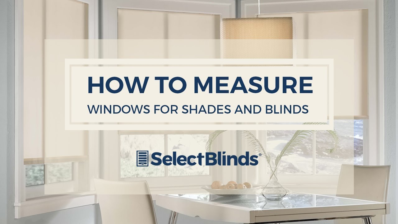 how to measure windows for your blinds and shades youtube. Black Bedroom Furniture Sets. Home Design Ideas