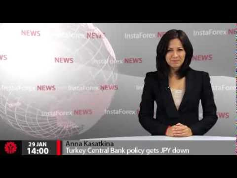 InstaForex News 29 January. Turkey Central Bank policy gets JPY down