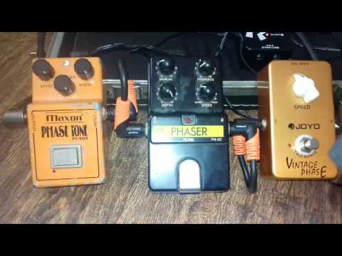 Phaser pedal comparison with harmonica