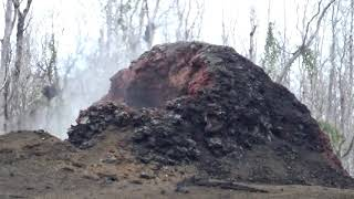 Leilani Estates Hawaii Lava Lot in Front of Kilauea Volcano Fissure 8