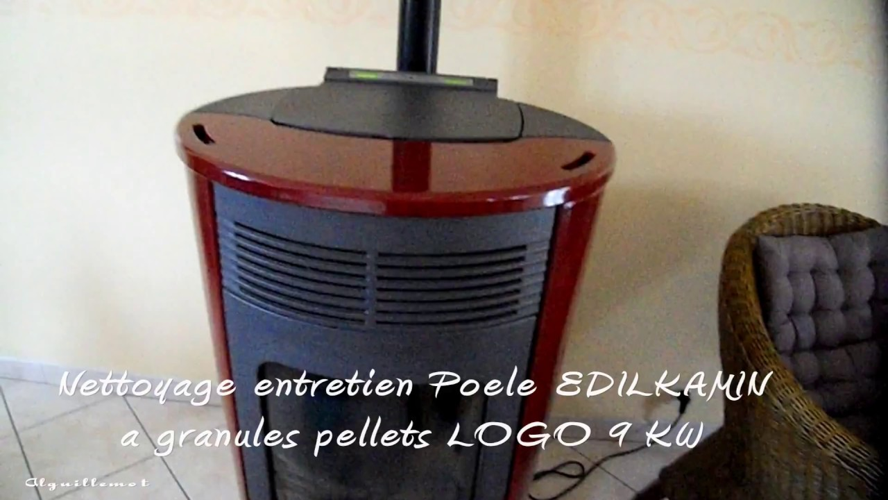 nettoyage entretien poele edilkamin a granules pellets logo 9 kw youtube. Black Bedroom Furniture Sets. Home Design Ideas
