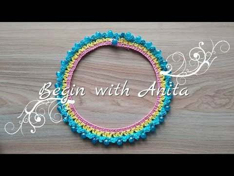 tutorial 69- DIY Beautiful Necklace Crochet in easy way.