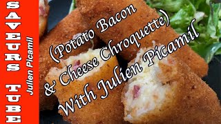How to make Potato Croquettes with Cheese &amp Bacon with The French Baker  TV Chef Julien Picamil