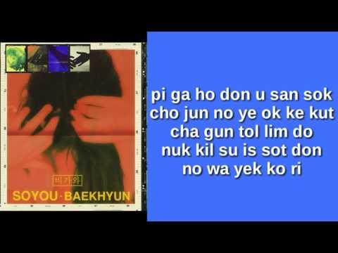 SOYOU & BAEKHYUN - RAIN (EASY LYRICS)