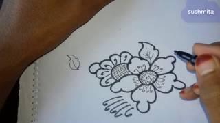 Beautiful Alpana Designs And Rangoli Designs---7 || Pencil Art|| Amazing Alpona Drawing|| Alpona