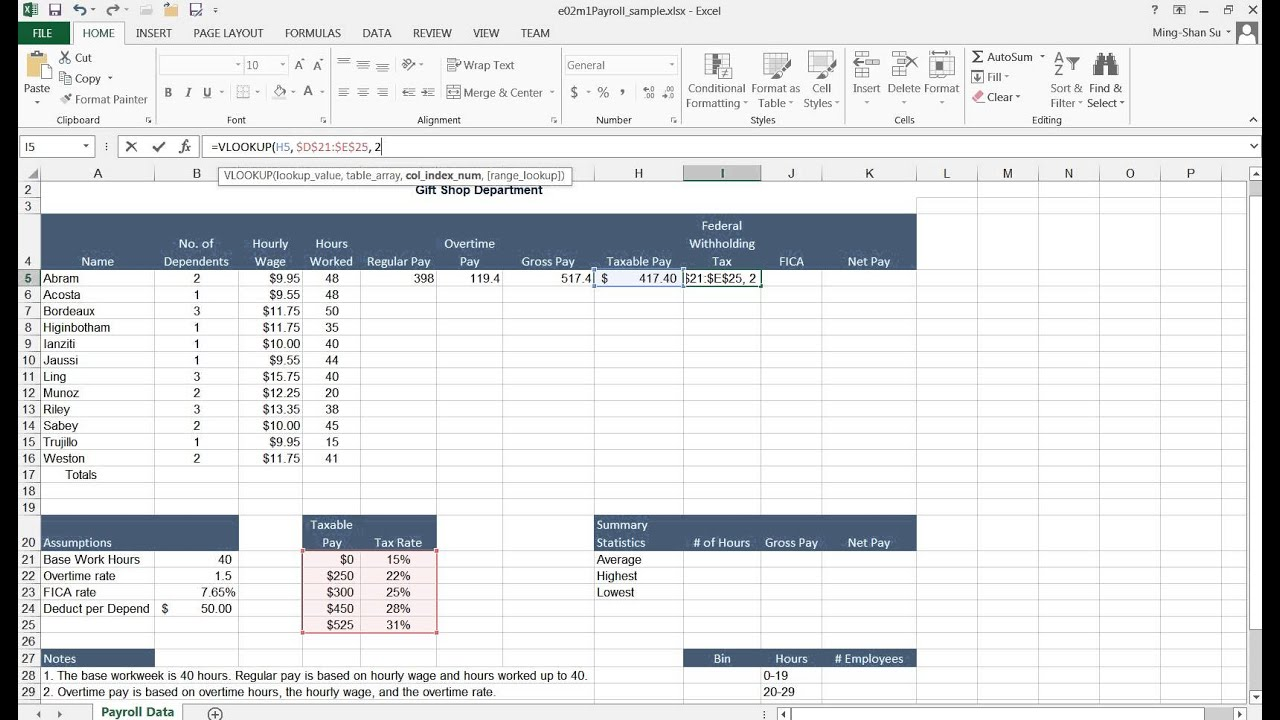 how to calculate overtime in excel