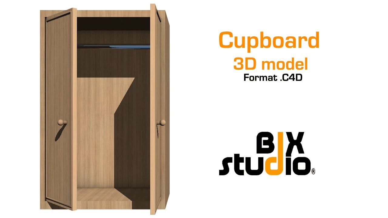 Cupboard - C4D model + [FREE DOWNLOAD] | BIXstudio