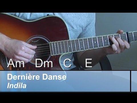 """GUITAR-Lesson: """"Dernière Danse"""", Indila/ EASY+Original CHORDS"""