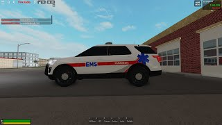 Man Shoot's Cop (Cop's React) Roblox Police patrol Emergency Response Liberty County