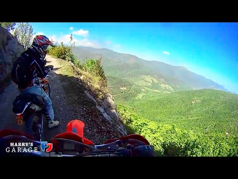 Enduro bike adventure. Off-road from Med to Atlantic via Pyrenees