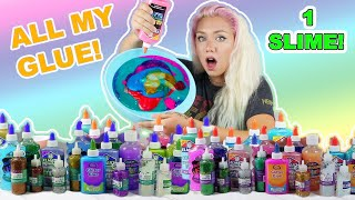 MIXING EVERY GLUE IN THE STORE TO MAKE ONE GIANT SLIME!