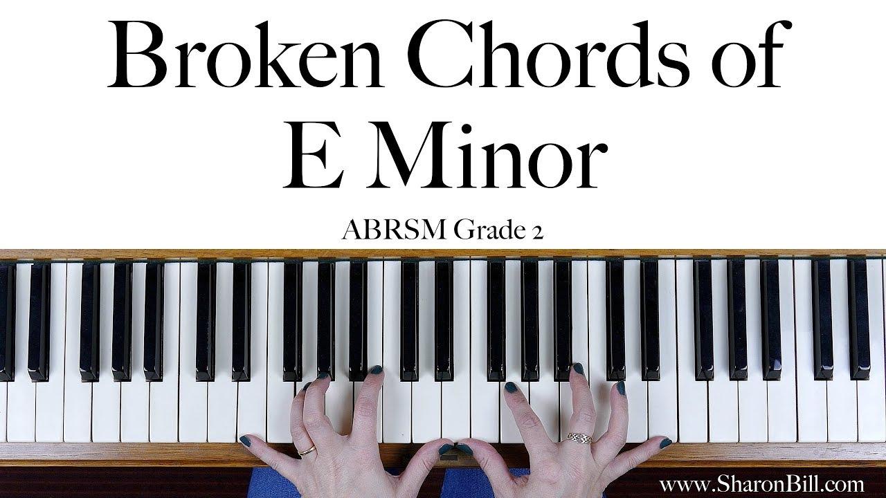 Abrsm grade 2 broken chords in e minor right hand and left hand abrsm grade 2 broken chords in e minor right hand and left hand hexwebz Image collections