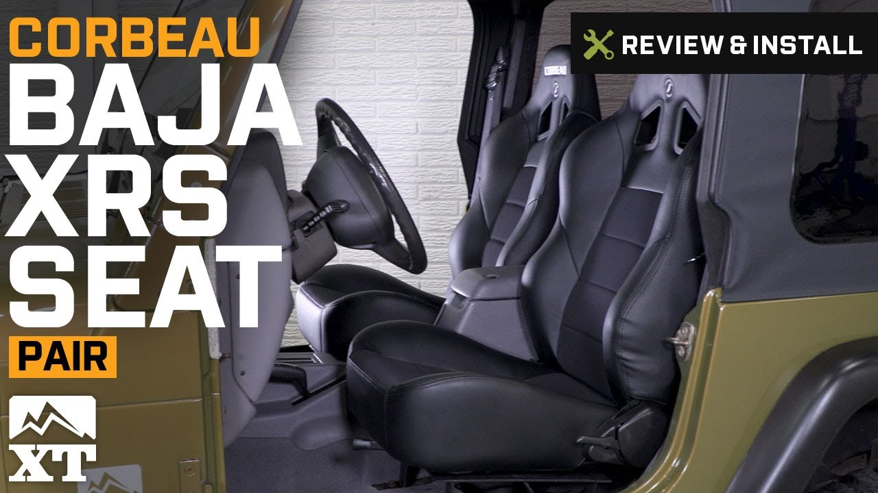 2014 Jeep Wrangler Rubicon >> Jeep Wrangler Corbeau Baja XRS Seats (1987-2017 YJ, TJ, JK) Review & Install - YouTube
