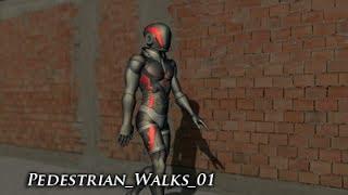 MoCap Action Pack - Pedestrian Walks 01 - Teaser Video