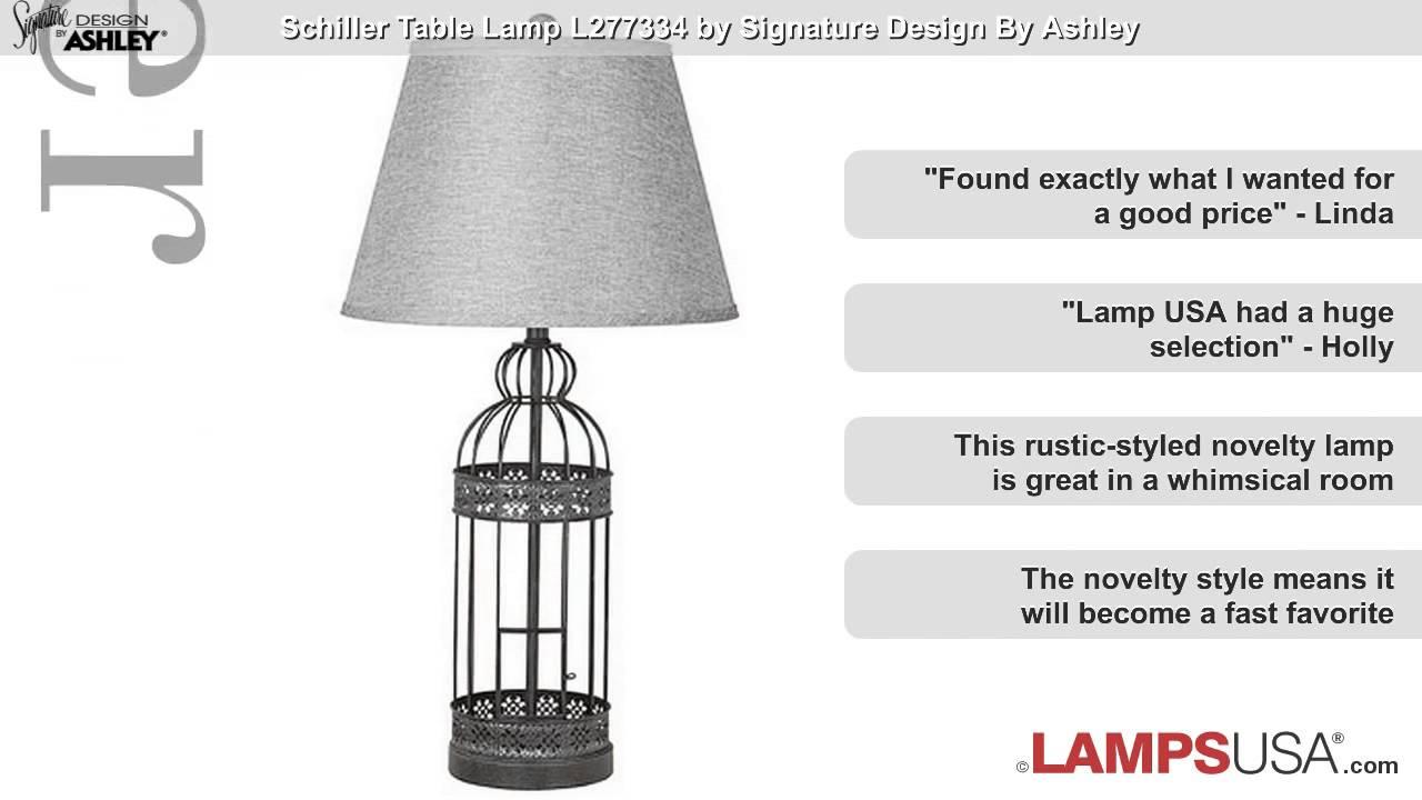 Ashley schiller birdcage table lamp set l277334 youtube ashley schiller birdcage table lamp set l277334 geotapseo Image collections