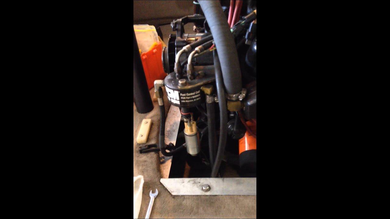 98 correct craft ski nautique gt40 pcm pro boss fuel cell filter change chris scher [ 1280 x 720 Pixel ]