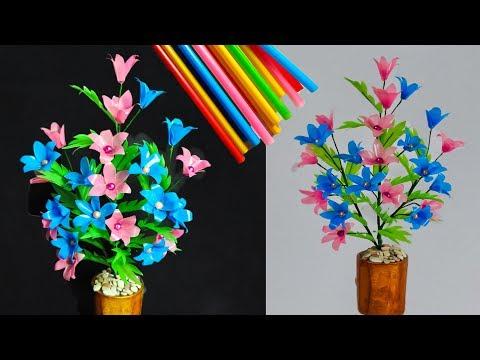 Cara Membuat Bunga Dari Sedotan Kreatif 2 How To Make The