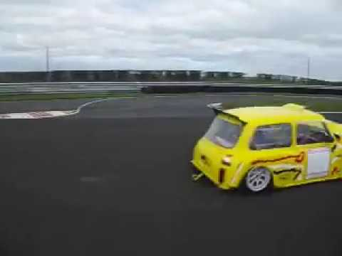 Tracksills Kirkistown Buttercup Spaceframe Mini doing its 1st lap April 2016