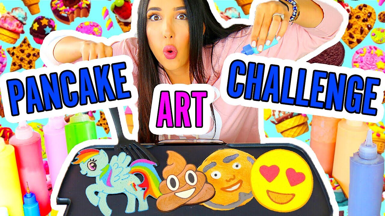 DRAWINGS YOU CAN EAT!! PANCAKE ART CHALLENGE ?????? Mariale ...