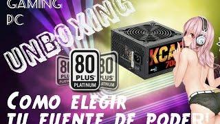 cOMO ELEGIR MI FUENTE DE PODER unboxing  KCAS aerocool 80 plus bronce