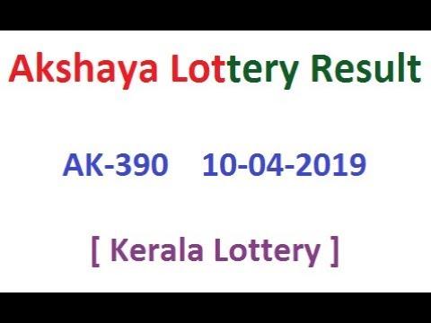 10-4-2019 AKSHAYA AK-390 LOTTERY RESULT TODAY Kerala Lottery Result