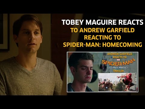 Tobey Maguire reacts to Andrew Garfield reacting to Spider-Man: Homecoming Trailer