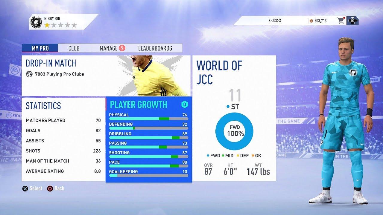 FIFA 19 Pro Clubs | The Best Striker Build (Tall/Fast/Traits)