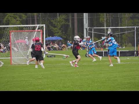 Text Book Lacrosse Split Dodge And Goal - James Shipley (Penn '23)