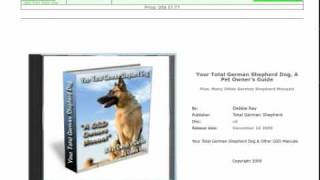 Your Total German Shepherd Dog, A Pet Owners Guide Now On Cd Too!
