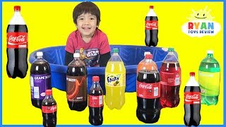 Learn colors for children kids toddlers Coca Cola and Ball Pit Show! Learning Video Compilation