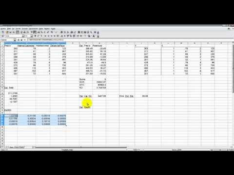 [ML-30] Ejemplo de cálculo de los errores estándar de la estimación y de los coeficientes