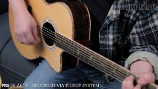 PRS SE T50E & SE A60E Acoustics Demo