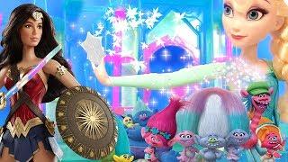 #ХОЛОДНОЕ СЕРДЦЕ Elsa Frozen ЭЛЬЗА VS ЧУДО ЖЕНЩИНЫ! ТРОЛЛИ МУЛЬТИК#Видео для Детей Принцессы Диснея