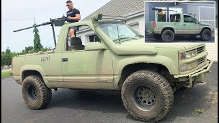 I MOUNTED A REAL 50 CALIBER MACHINE GUN TO MY ARMY BLAZER... (And Drove Past Cops!!!)