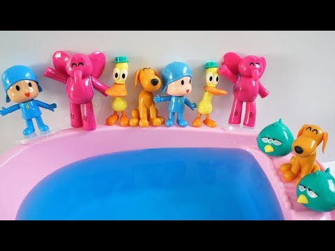 Learn Numbers Animals & Ten Pocoyo Jumping on the Pool Song