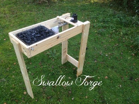 Building a simple homemade Blacksmith's Forge - Swallow Forge