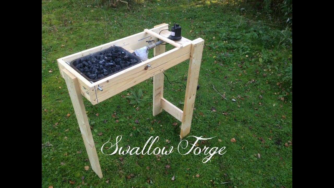 homemade coal forge. building a simple homemade blacksmith\u0027s forge - swallow youtube coal