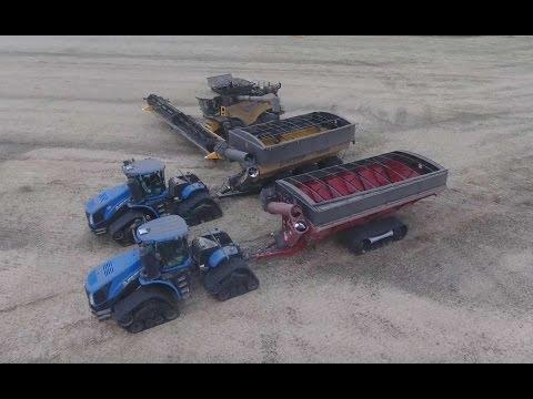 Canola harvest 2016. Canada. DELAGE Farms, Indian Head, Saskatchewan. (4K video)