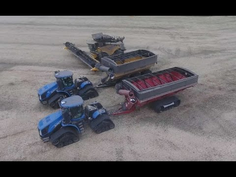 Canola harvest 2016. Canada. DELAGE Farms, Indian Head, Saskatchewan. (4K video)