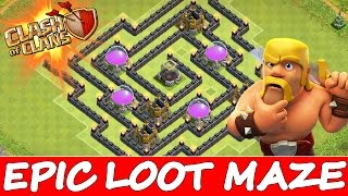 Clash Of Clans | CRAZY LOOT MAZE! | Trolling Noobs In The Maze! Weird Base!