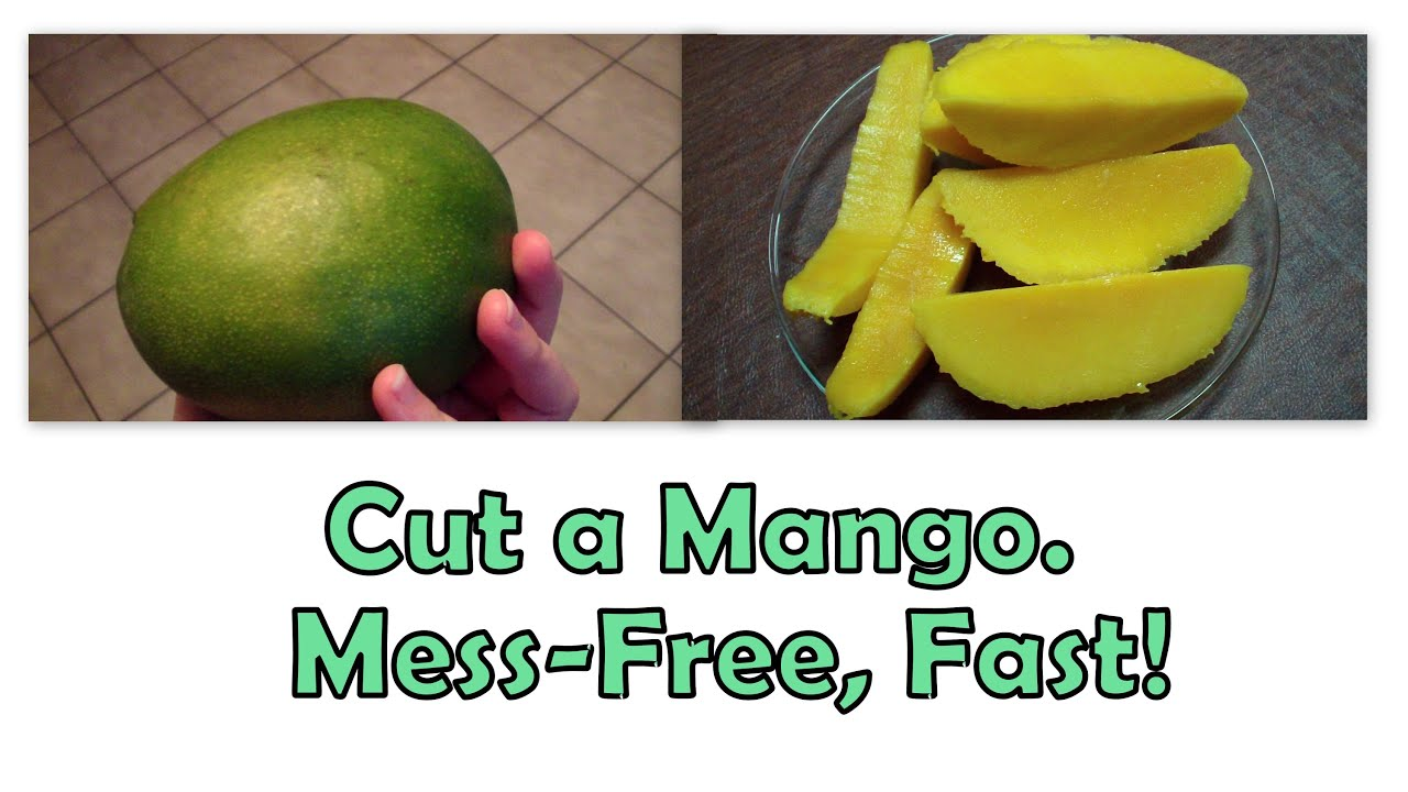 Use A Glass To Peel A Mango Messfree & Fast!