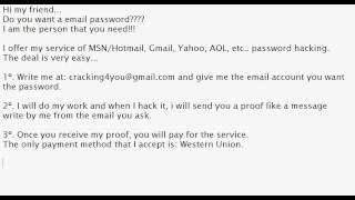 a guide to hackingcracking myspace yahoo hotmail aol and gmail passwords Hacked accounts warning signs of a we know it's a pain, but keep different passwords for different review your away message in your aol mail.