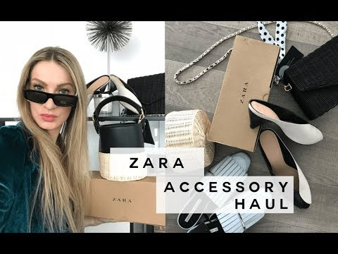 ZARA ACCESSORY HAUL & TRY ON | BAGS + SHOES | MON MODE
