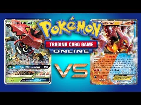 Vikavolt / Tapu Bulu GX vs Volcanion EX - Pokemon TCG Online Gameplay