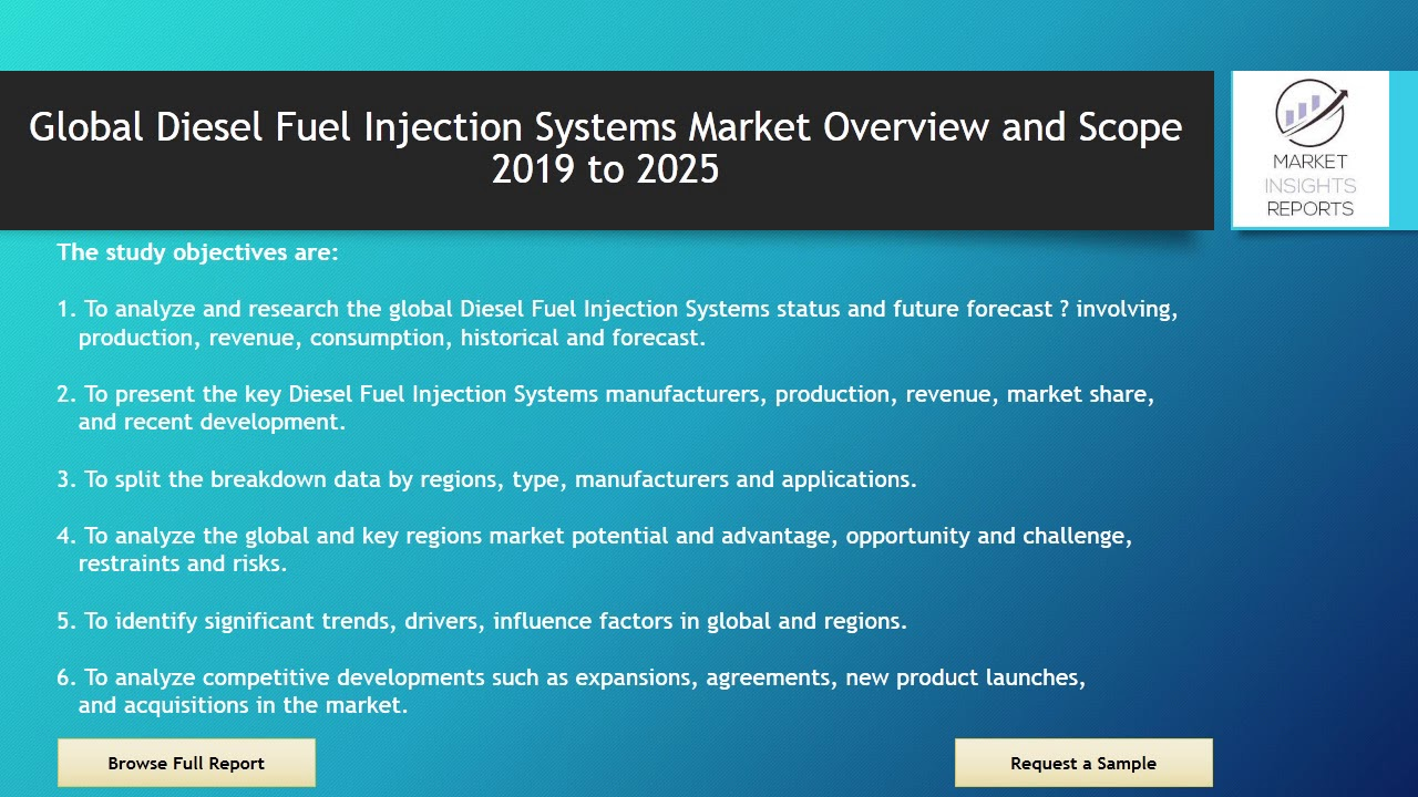Diesel Fuel Injection Systems Market Analysis 2019 to 2025